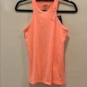 Bright peach puma drycell workout tank top